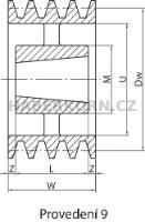 Klínová řemenice SPB pro Taper Lock  - 10