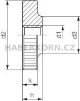 Rýhovaná matice plochá DIN 467  - 2