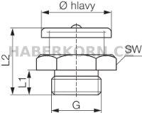 Plochá maznice DIN 3404  - 2