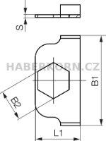 Plech pojistný, pro držáky trubek a hadic  - 2