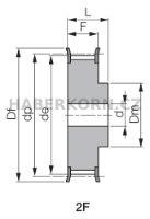 Ozubená řemenice AT10 (rozteč 10,0 mm)  - 2