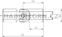 Hřídelový kloub DIN 808-G (precizní provedení)  - 2