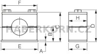 Držák trubek jednoduchý - komplet  - 2