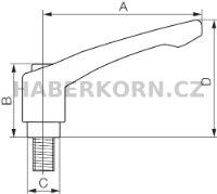 Přestavitelná páka zinková  - 2
