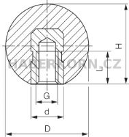 Plastová  guľa DIN 319 E  - 2