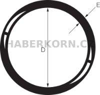 O-kroužek NBR 70 SH 40-49,99 mm - 2