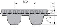 Ozubený řemen nekonečný Poly Chain Carbon™ Volt 8MGTV  - 2
