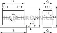 Držák trubek jednoduchý HEAVY - komplet  - 2
