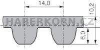 Ozubený remeň nekonečný Poly Chain Carbon™ Volt 14MGTV  - 2
