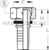 Hydraulické koncovky metrické DKL  - 2