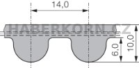 Ozubený řemen neoprénový nekonečný PowerGrip GT3 14MGT  - 2