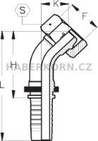 Hydraulické koncovky metrické DKL-45  - 2