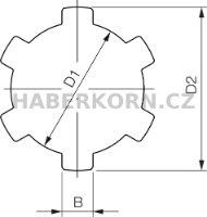 Drážková hřídel DIN ISO 14  - 2