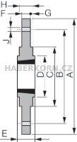 Šroubovací náboj pro Taper Lock  - 2