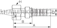 Hydraulické koncovky GlobalSpiral™ DIN 24° FDLORX  - 2
