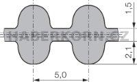 Oboustranný ozubený řemen neoprénový nekonečný HTD 5M  - 2