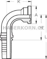 Hydraulické koncovky přírubové SFL-90  - 2