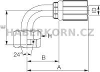 Hydraulické koncovky MegaCrimp® DIN 24° FDHORX90  - 2