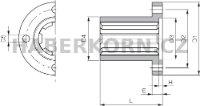 Drážkový náboj DIN ISO 14  - 2