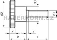Rýhovaný šroub vysoký DIN 464  - 3