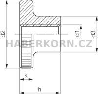 Rýhovaná matice vysoká DIN 466  - 3