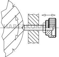 Rýhovaná matice DIN 6303  - 3