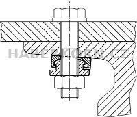 Kompaktní kulová podložka + kuželová pánev  - 4