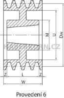 Klinová remenica SPA pre Taper Lock  - 6